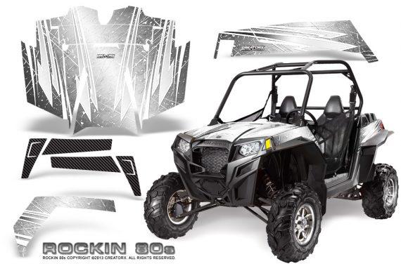 RZR 900 2011 CreatorX Graphics Kit Rockin 80s White 570x376 - Polaris RZR 900 XP UTV 2011-2014 Graphics