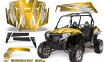 RZR 900 2011 CreatorX Graphics Kit Rockin 80s Yellow 150x90 - Polaris RZR 900 XP UTV 2011-2014 Graphics
