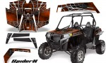 RZR 900 2011 CreatorX Graphics Kit SpiderX Orange Dark 150x90 - Polaris RZR 900 XP UTV 2011-2014 Graphics