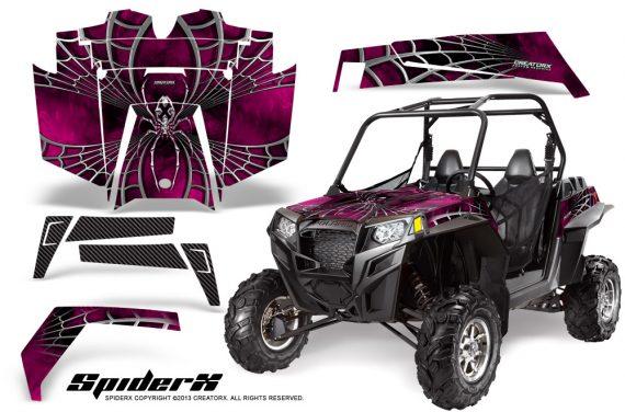 RZR 900 2011 CreatorX Graphics Kit SpiderX Pink 570x376 - Polaris RZR 900 XP UTV 2011-2014 Graphics