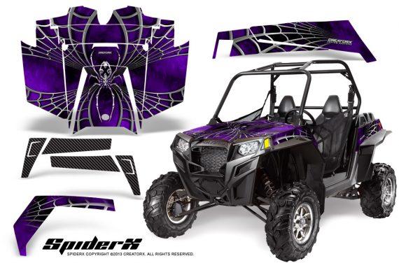 RZR 900 2011 CreatorX Graphics Kit SpiderX Purple 570x376 - Polaris RZR 900 XP UTV 2011-2014 Graphics