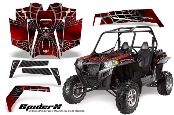 RZR 900 2011 CreatorX Graphics Kit SpiderX Red 570x376 - Polaris RZR 900 XP UTV 2011-2014 Graphics