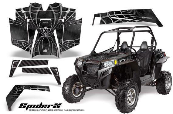 RZR 900 2011 CreatorX Graphics Kit SpiderX Silver 570x376 - Polaris RZR 900 XP UTV 2011-2014 Graphics