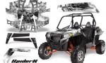 RZR 900 2011 CreatorX Graphics Kit SpiderX White 150x90 - Polaris RZR 900 XP UTV 2011-2014 Graphics