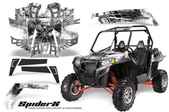 RZR 900 2011 CreatorX Graphics Kit SpiderX White 570x376 - Polaris RZR 900 XP UTV 2011-2014 Graphics
