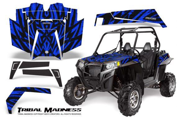 RZR 900 2011 CreatorX Graphics Kit Tribal Madness Blue 570x376 - Polaris RZR 900 XP UTV 2011-2014 Graphics