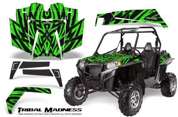 RZR 900 2011 CreatorX Graphics Kit Tribal Madness Green 570x376 - Polaris RZR 900 XP UTV 2011-2014 Graphics