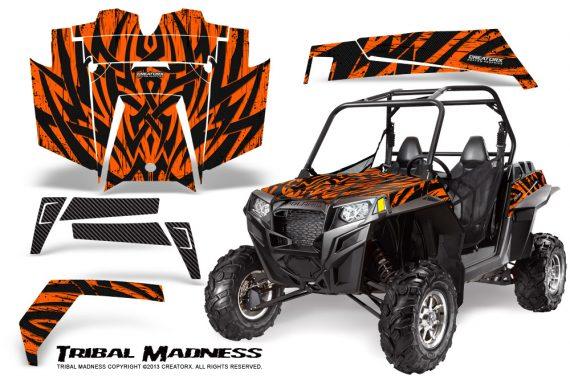 RZR 900 2011 CreatorX Graphics Kit Tribal Madness Orange 570x376 - Polaris RZR 900 XP UTV 2011-2014 Graphics
