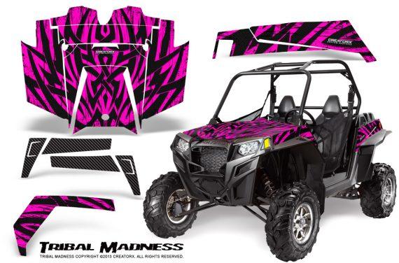 RZR 900 2011 CreatorX Graphics Kit Tribal Madness Pink 570x376 - Polaris RZR 900 XP UTV 2011-2014 Graphics