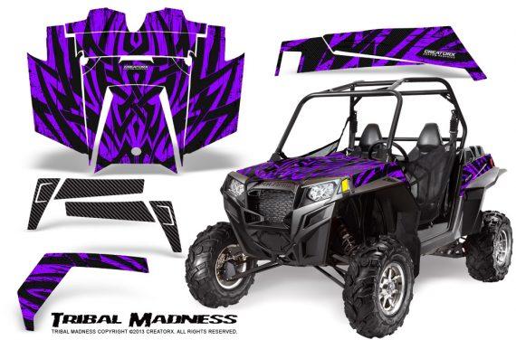 RZR 900 2011 CreatorX Graphics Kit Tribal Madness Purple 570x376 - Polaris RZR 900 XP UTV 2011-2014 Graphics