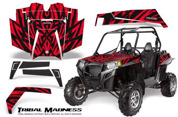 RZR 900 2011 CreatorX Graphics Kit Tribal Madness Red 570x376 - Polaris RZR 900 XP UTV 2011-2014 Graphics