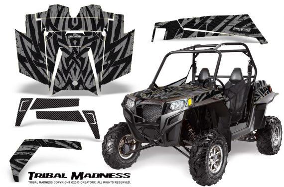 RZR 900 2011 CreatorX Graphics Kit Tribal Madness Silver 570x376 - Polaris RZR 900 XP UTV 2011-2014 Graphics