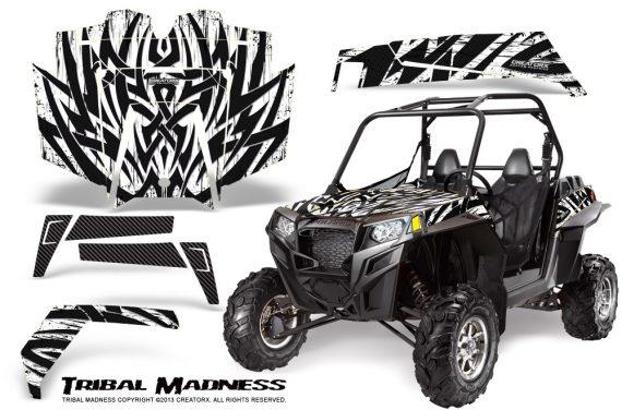 RZR 900 2011 CreatorX Graphics Kit Tribal Madness White 570x376 - Polaris RZR 900 XP UTV 2011-2014 Graphics