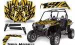 RZR 900 2011 CreatorX Graphics Kit Tribal Madness Yellow 150x90 - Polaris RZR 900 XP UTV 2011-2014 Graphics