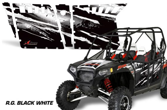 RZR 800 4 RG BLACK WHITE 2636 104236 1010 570x376 - Polaris RZR-S 800 4 Door Graphics