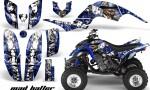 Raptor 660 250 Graphics MadHatter Blue White stripe 150x90 - Yamaha Raptor 660 Graphics