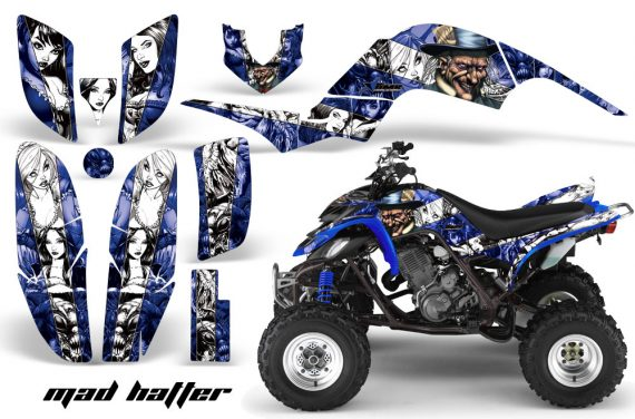 Raptor 660 250 Graphics MadHatter Blue White stripe 570x376 - Yamaha Raptor 660 Graphics