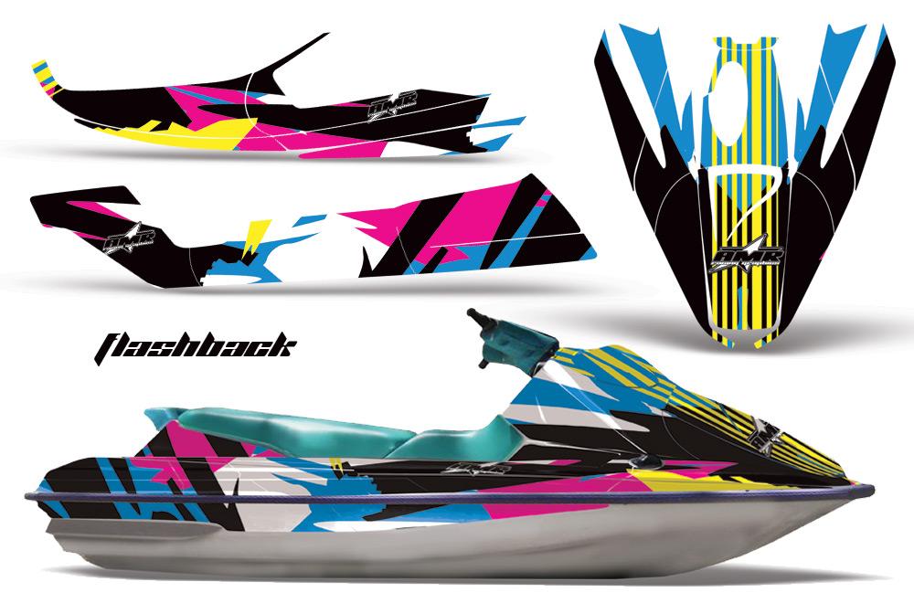 Sea Doo Bombardier GTS Sitdown Jet Ski Graphics 1992-1997