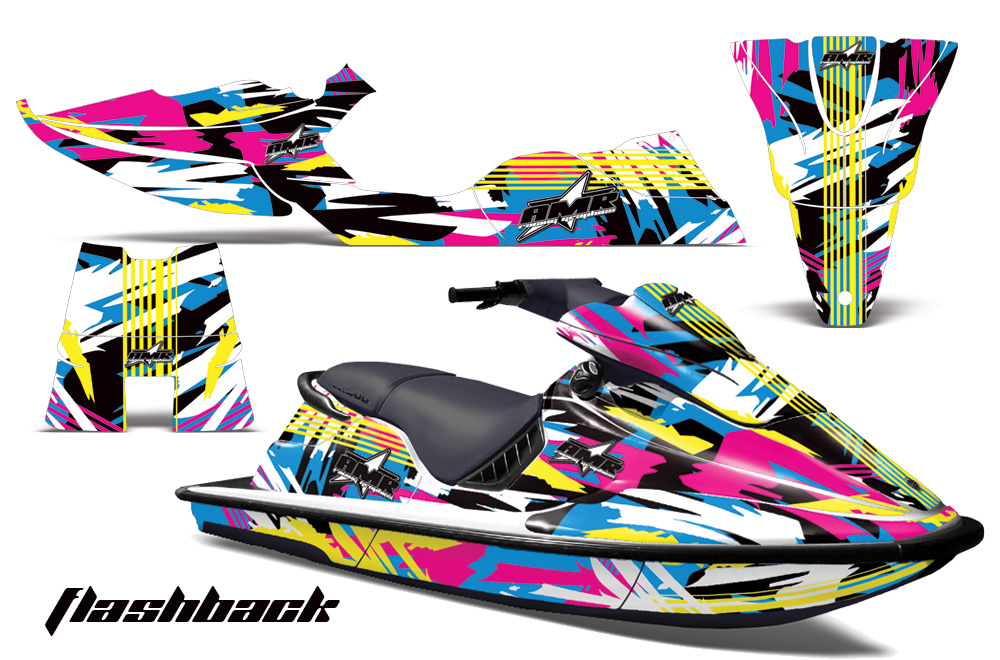 Sea Doo XP 94 96 AMR Graphics Kit Flashback sea doo xp bombardier sitdown jet ski 1994 1996 graphics