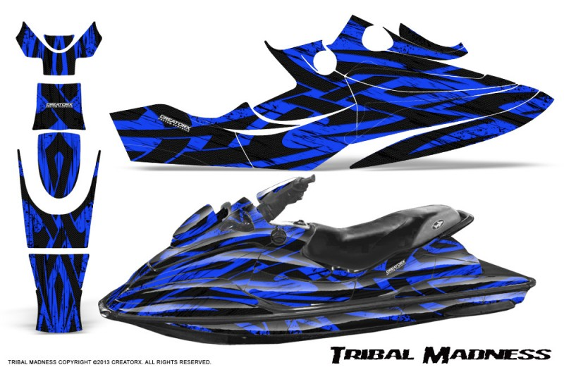 SeaDoo-GSX-96-99-CreatorX-Graphics-Kit-Tribal-Madness-Blue