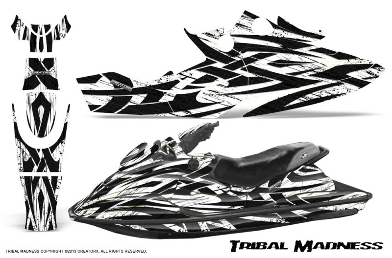SeaDoo-GSX-96-99-CreatorX-Graphics-Kit-Tribal-Madness-White