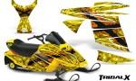 Ski Doo MiniZ CreatorX Graphics Kit TribalX Orange Yellow 150x90 - Ski-Doo Mini Z Kids 2003-2008 Graphics