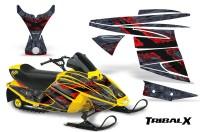 Ski-Doo-MiniZ-CreatorX-Graphics-Kit-TribalX-Red-Silver