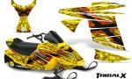 Ski Doo MiniZ CreatorX Graphics Kit TribalX Red Yellow 150x90 - Ski-Doo Mini Z Kids 2003-2008 Graphics