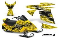 Ski-Doo-MiniZ-CreatorX-Graphics-Kit-TribalX-Silver-Yellow