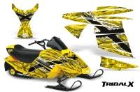 Ski-Doo-MiniZ-CreatorX-Graphics-Kit-TribalX-White-Yellow