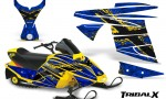 Ski Doo MiniZ CreatorX Graphics Kit TribalX Yellow Blue 150x90 - Ski-Doo Mini Z Kids 2003-2008 Graphics
