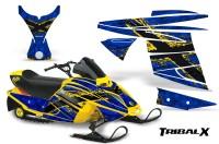 Ski-Doo-MiniZ-CreatorX-Graphics-Kit-TribalX-Yellow-Blue