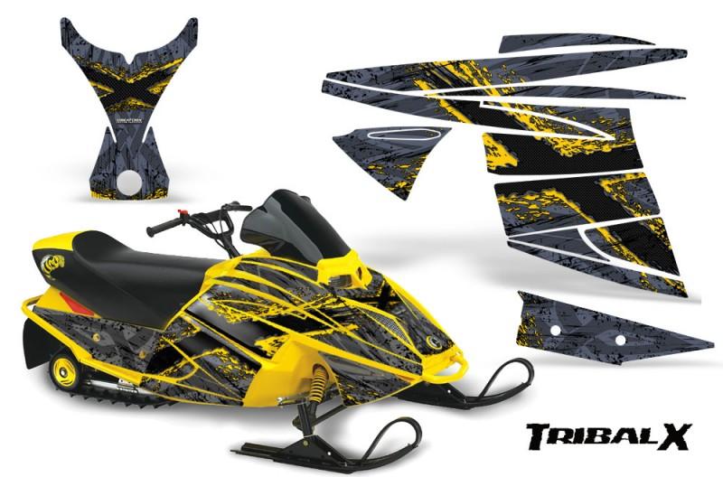 Ski-Doo-MiniZ-CreatorX-Graphics-Kit-TribalX-Yellow-Silver