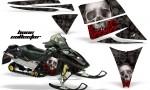 Ski Doo Rev AMR Graphics Kit BONECOLLECTOR Black 150x90 - Ski-Doo Rev Graphics