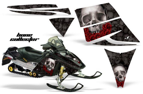 Ski Doo Rev AMR Graphics Kit BONECOLLECTOR Black 570x376 - Ski-Doo Rev Graphics