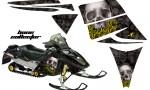 Ski Doo Rev AMR Graphics Kit BONECOLLECTOR Black YellowRose 150x90 - Ski-Doo Rev Graphics