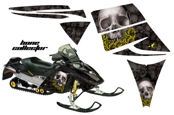 Ski Doo Rev AMR Graphics Kit BONECOLLECTOR Black YellowRose 570x376 - Ski-Doo Rev Graphics