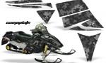 Ski Doo Rev AMR Graphics Kit CAMOPLATE Black 150x90 - Ski-Doo Rev Graphics