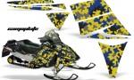 Ski Doo Rev AMR Graphics Kit CAMOPLATE Blue 150x90 - Ski-Doo Rev Graphics