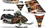 Ski Doo Rev AMR Graphics Kit FIRESTORM Black 150x90 - Ski-Doo Rev Graphics