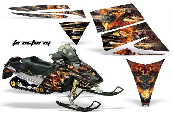 Ski Doo Rev AMR Graphics Kit FIRESTORM Black 570x376 - Ski-Doo Rev Graphics