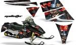 Ski Doo Rev AMR Graphics Kit MADHATTER Red 150x90 - Ski-Doo Rev Graphics