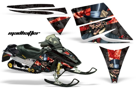 Ski Doo Rev AMR Graphics Kit MADHATTER Red 570x376 - Ski-Doo Rev Graphics