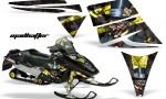 Ski Doo Rev AMR Graphics Kit MADHATTER Yellow 150x90 - Ski-Doo Rev Graphics