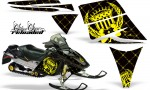 Ski Doo Rev AMR Graphics Kit RELOADED Yellow 150x90 - Ski-Doo Rev Graphics