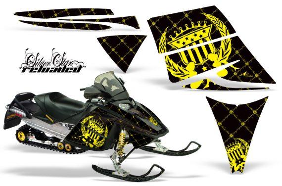 Ski Doo Rev AMR Graphics Kit RELOADED Yellow 570x376 - Ski-Doo Rev Graphics