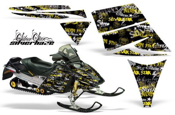 Ski Doo Rev AMR Graphics Kit SILVERHAZE Yellow 570x376 - Ski-Doo Rev Graphics