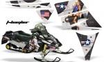 Ski Doo Rev AMR Graphics Kit TBOMBER Black 150x90 - Ski-Doo Rev Graphics