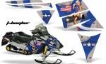 Ski Doo Rev AMR Graphics Kit TBOMBER Blue 150x90 - Ski-Doo Rev Graphics