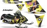 Ski Doo Rev AMR Graphics Kit TBOMBER Yellow 150x90 - Ski-Doo Rev Graphics